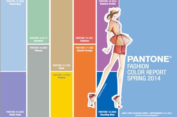 trendy kolorystyczne Pantone wiosna 2014