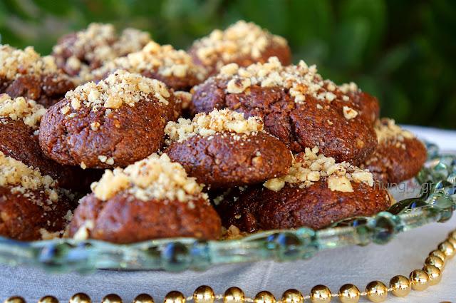 Melomakarona Honey Cookies with Dark Chocolate