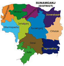 Sunamgonj District map