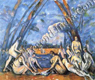 "The Great Artist Paul Cezanne ""The Great Bathers"" 1898-1905 82""x98"" Philadelphia Museum of Art: W. P. W Istach Collection"
