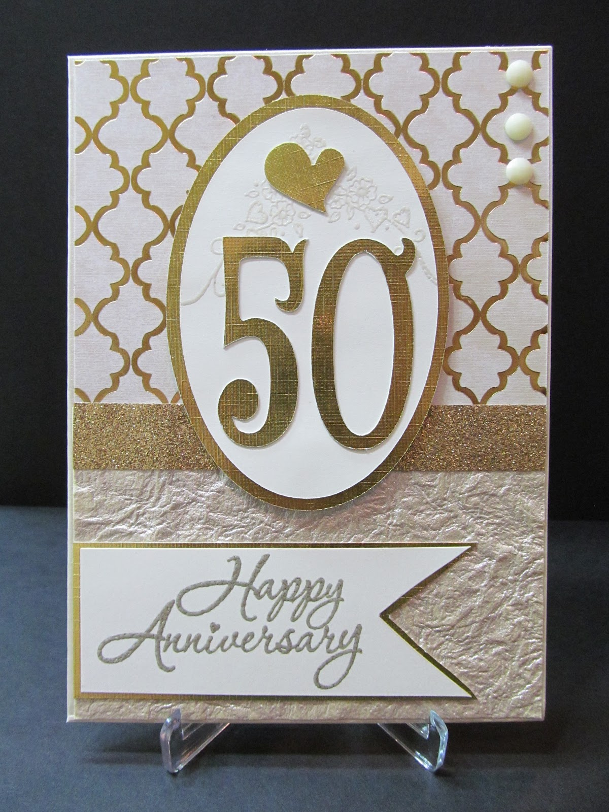 Savvy Handmade Cards: 50th Anniversary Card