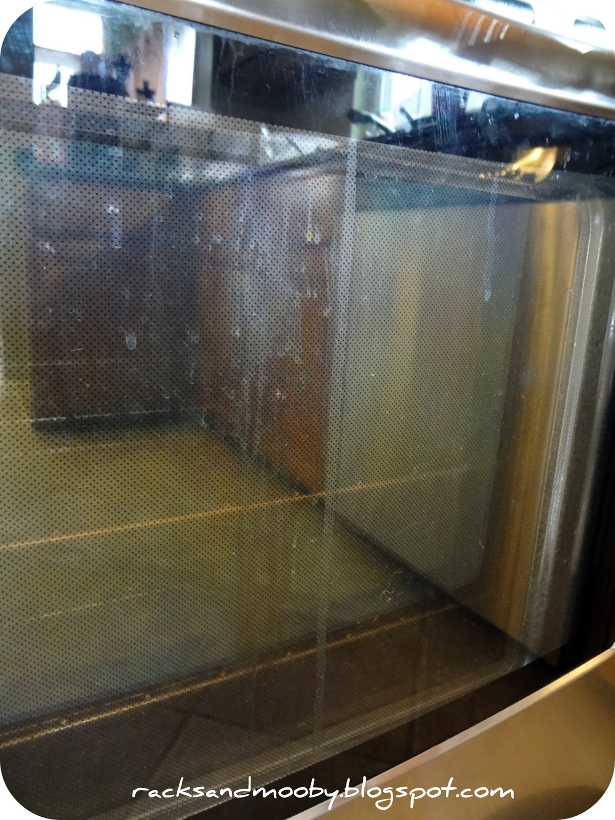 Spillage In Between The Glass Panels Of The Oven Door   Greeeeeaaaaat.