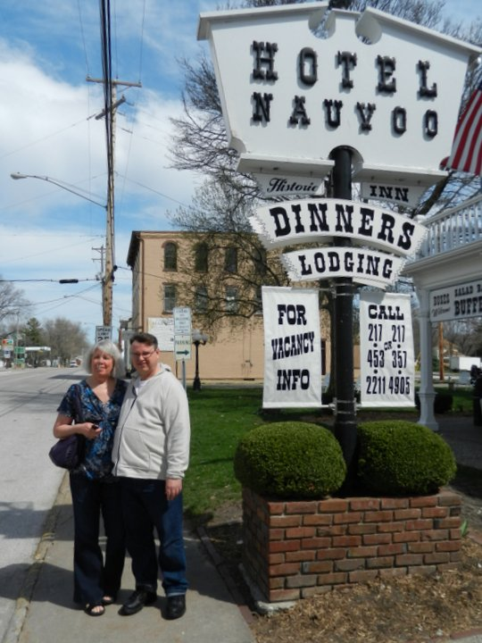 Linda And Dan In Front Of The Hotel Nauvoo