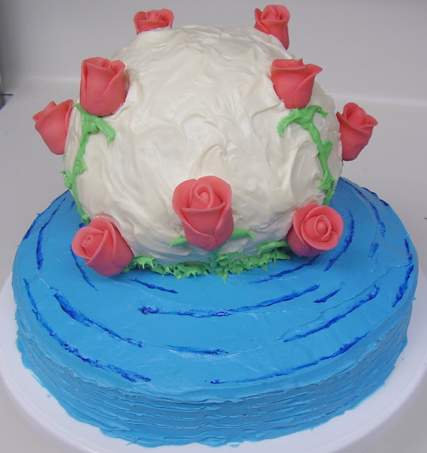 Roses Cake without the Dragonflies