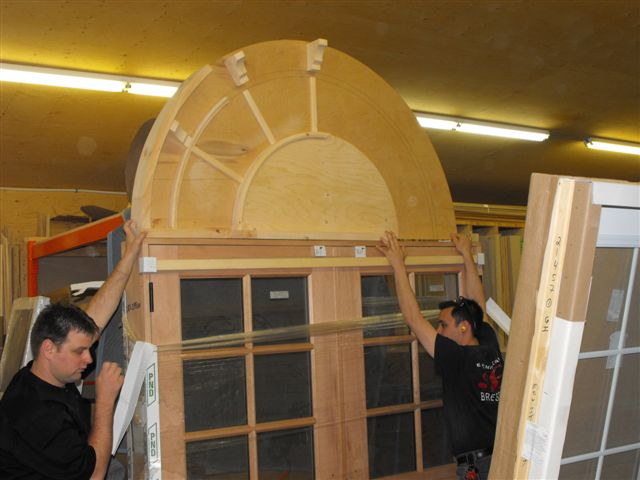 PLACE MACPHERSON-Main entrance door during fabrication