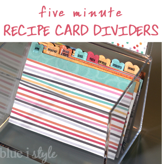 Five minute friday quick and cute recipe box dividers blue i five minute friday quick and cute recipe box dividers blue i style creating an organized pretty happy home thecheapjerseys Image collections