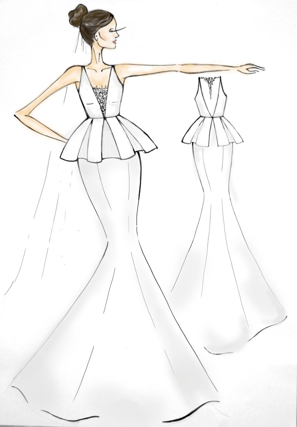 Эскизы свадебных платьев Roma Nova