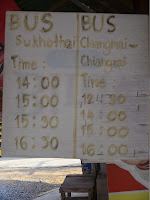 Si Satchanalai to Sukhothai bus schedule