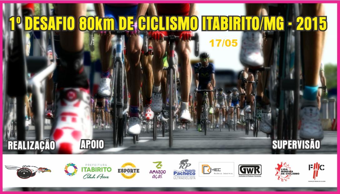 1°Desafio 80 Km de Ciclismo Itabirito - 2015