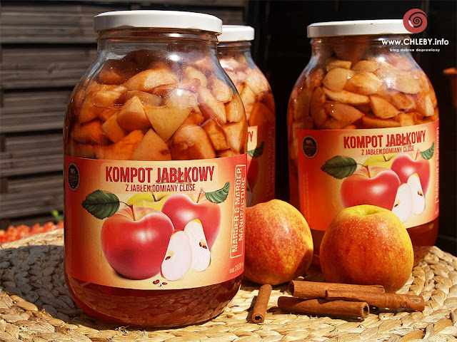 Kompot z jabłek w słoikach na zimę