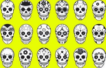 Desenhos de caveira mexicana para fazer tatuagem