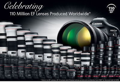 Canon Celebrates Significant Milestone With Production Of 110 Million Interchangeable EF Lenses