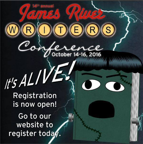 2016 James River Writers Conference - Rates Go Up August 1st- Register Today!!