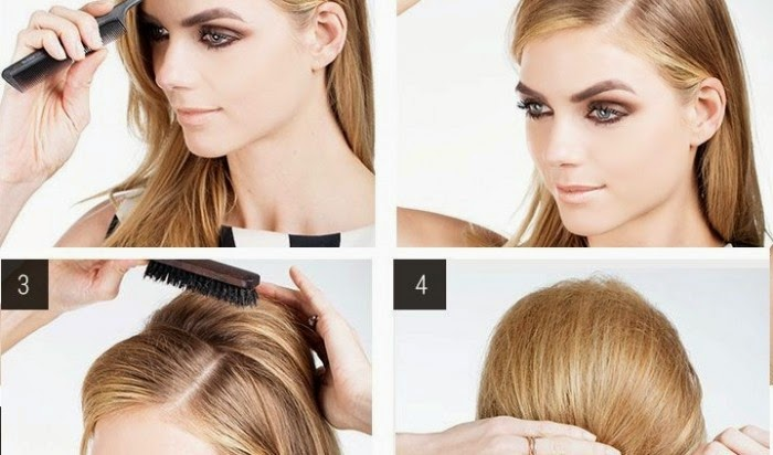 Glam Half Up Bouffant Tutorial Beautiful Girls Magazine 1