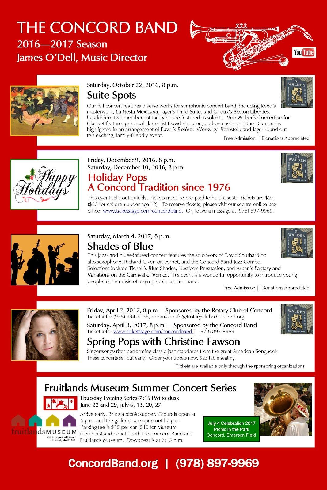 Concord Band 2016–17 Season