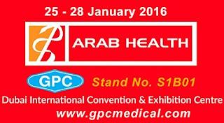 Visit us at Arab Health 2016, Dubai