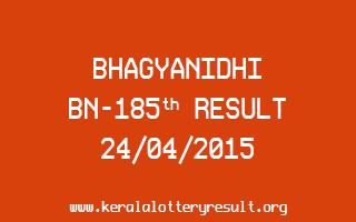 BHAGYANIDHI BN 185 Lottery Result 24-4-2015