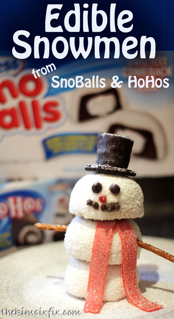Use Hostess SnoBalls and HoHos into these darling individual Snowmen. Perfect for your holiday party.