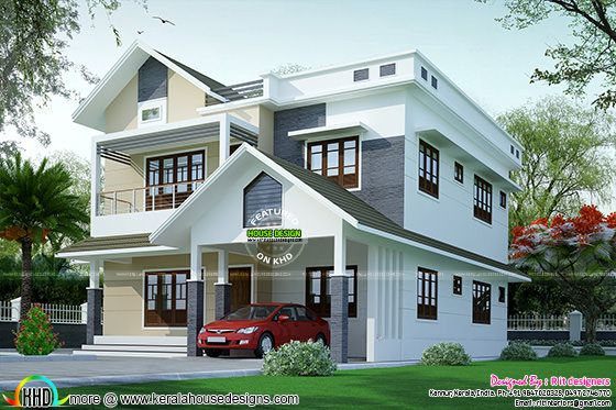 4 BHK modern house in 2512 sq-ft