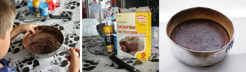 Preparando el brownie para el desayuno con la nueva taza New Wave Barcelona