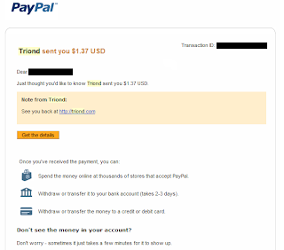 Triond payment proof