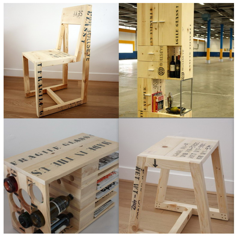 El mundo del reciclaje reciclar madera de embalaje for Reciclar palets de madera muebles