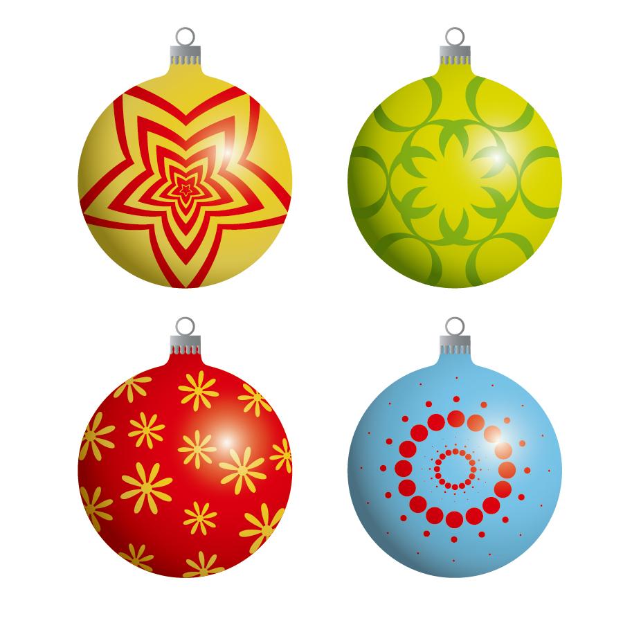 free vector がらくた素材庫: クリスマス ハンギング ボール christmas