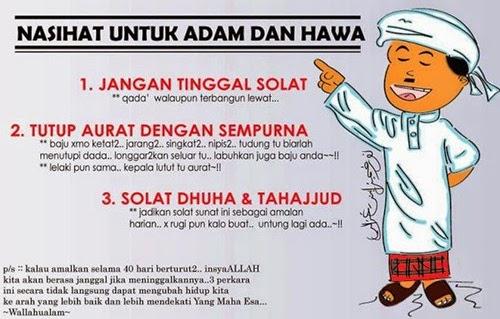 Nasihat Untuk Adam & Hawa, nasihat solat, nasihat agama, nasihat islam