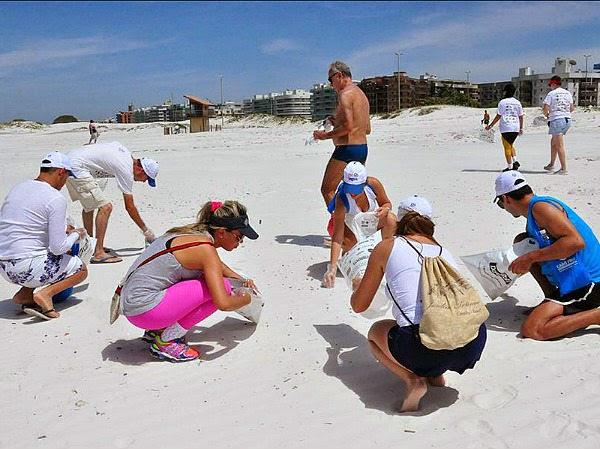 Em Cabo Frio Dia Mundial de Limpeza de Praia