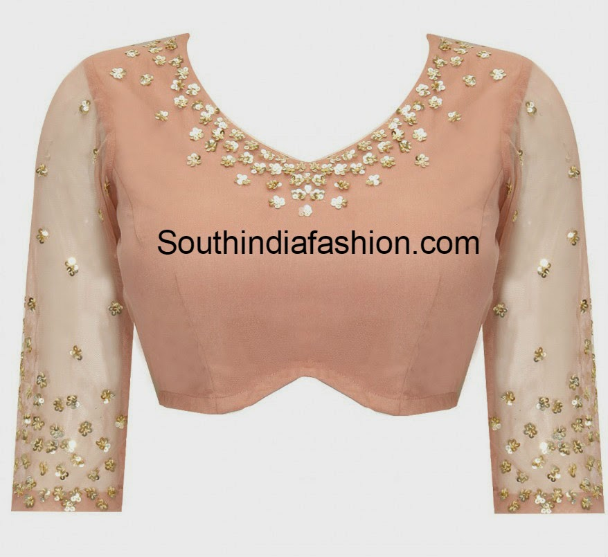 sequin work blouse