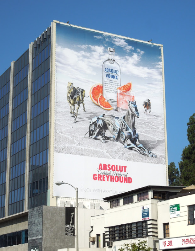 Giant Absolut Greyhound billboard