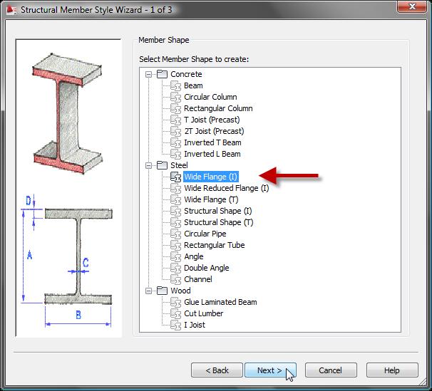 The architect s desktop aca structural member styles part