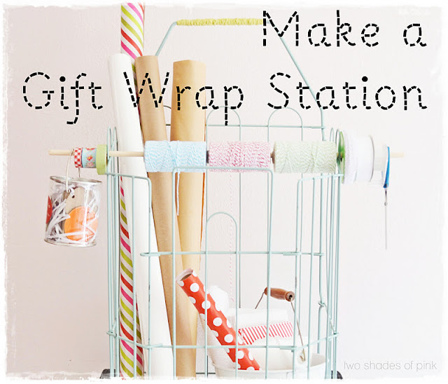Two shades of pink a portable gift wrap station 3 simple ideas