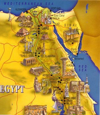 Ancient Egypt Maps Ancient Egypt Facts - Map of egypt pyramids