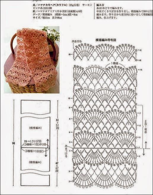 Bufandas tejidas a crochet patrones gratis - Imagui