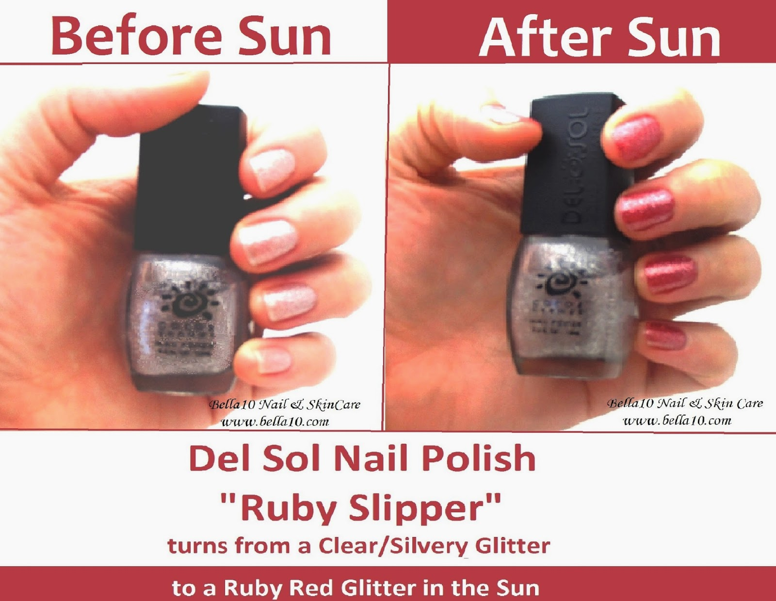 Bella10 Nails: Fun in the Sun - Color Changing Polish! - Part 1