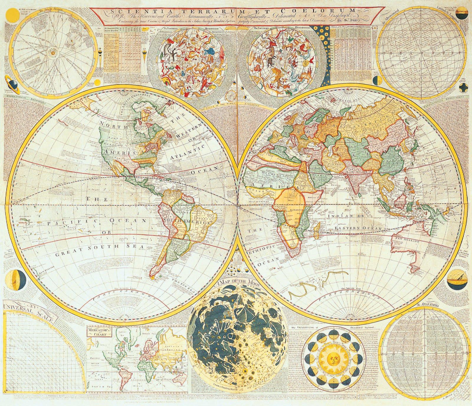 Antique Map: Irina McAuley's Art: Old Map (collection 2