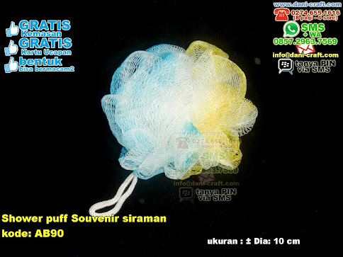 Shower Puff Souvenir Siraman