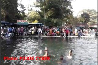 Kolam di Cibulan ukuran 35 x 15 meter persegi dan kedalaman 2 meter