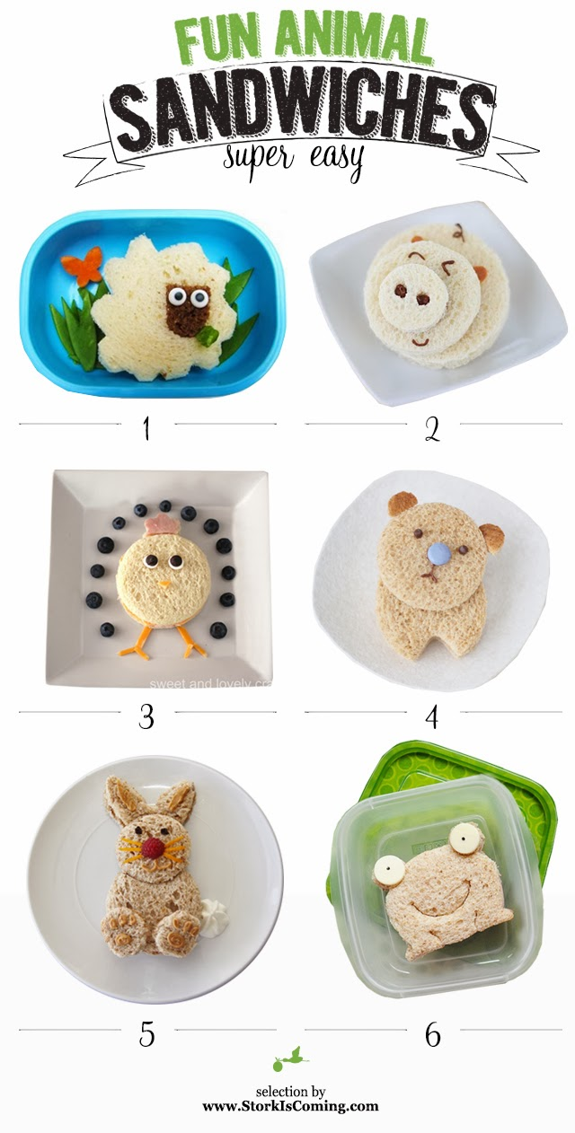 6 easy and cute animal sandwiches for kids