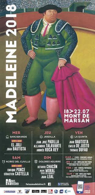 MONT DE MARSAN (FRANCIA) FERIA TAURINA MADELEINE 2018.