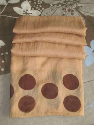Pañuelo decorado pintura textil / textile paint scarf / peinture textile