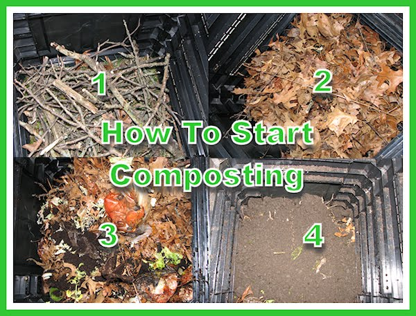 at home with how to start composting