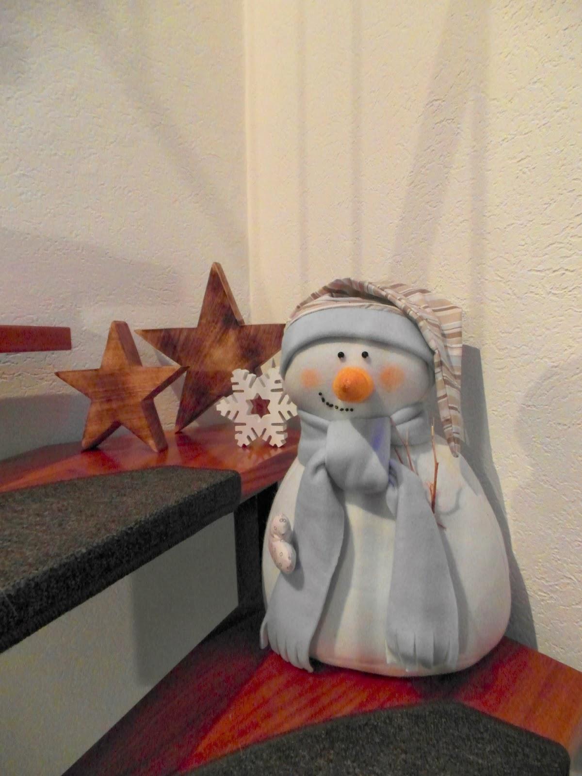 Haus voller Ideen: Schneemann aus Stoff