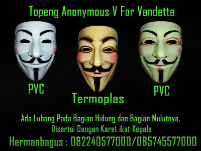 Jual Topeng Anonymous V For Vandetta