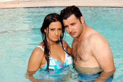 brinda parekh and abbas in pool