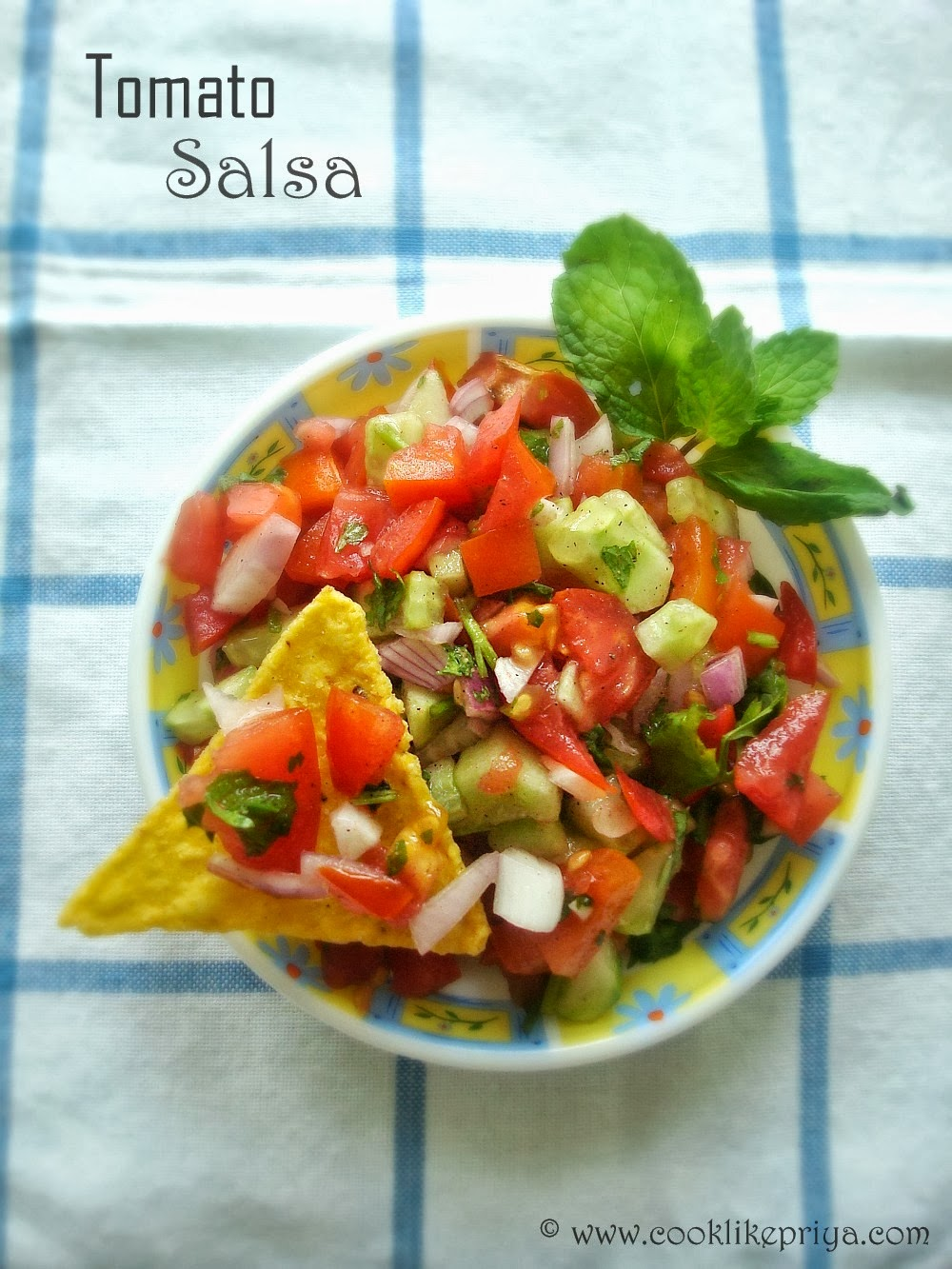Salsa two ways- Healthy snacking Recipe   Tomato Salsa   Strawberry ...