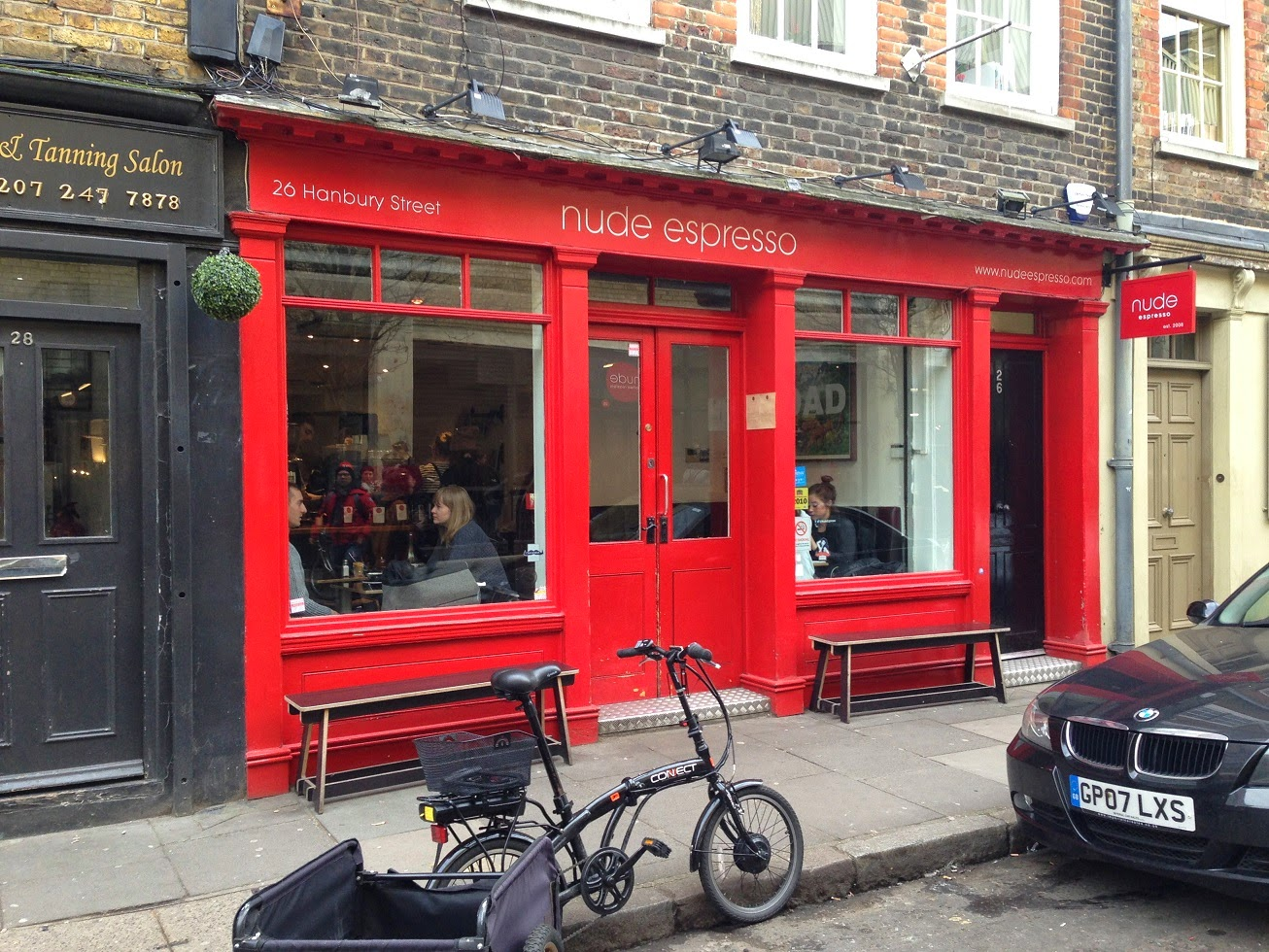 Coffee shop, Shoreditch, London