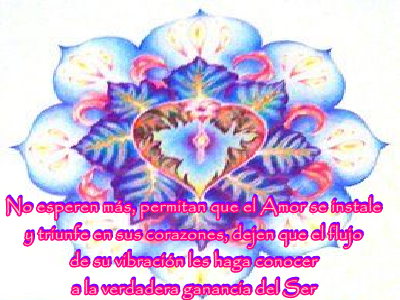 El Amor siempre triunfa, va desde y hacia todos en la Tierra, más allá, sana todo lo que pueda haber ocurrido.