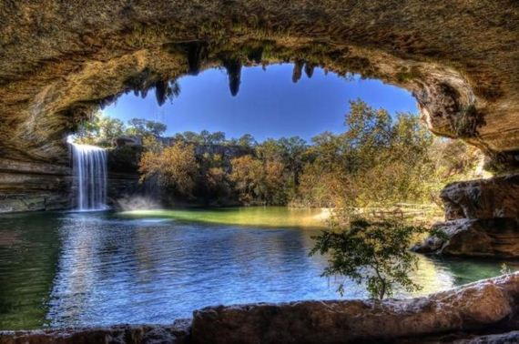 Natural Hamilton Pool in Texas